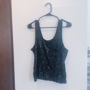 Black Corpus by Urban Outfitters sequin tank top